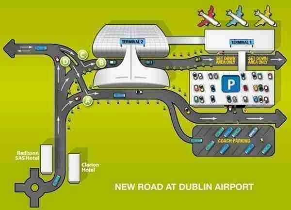 Mappa, aeroporto di Dublino