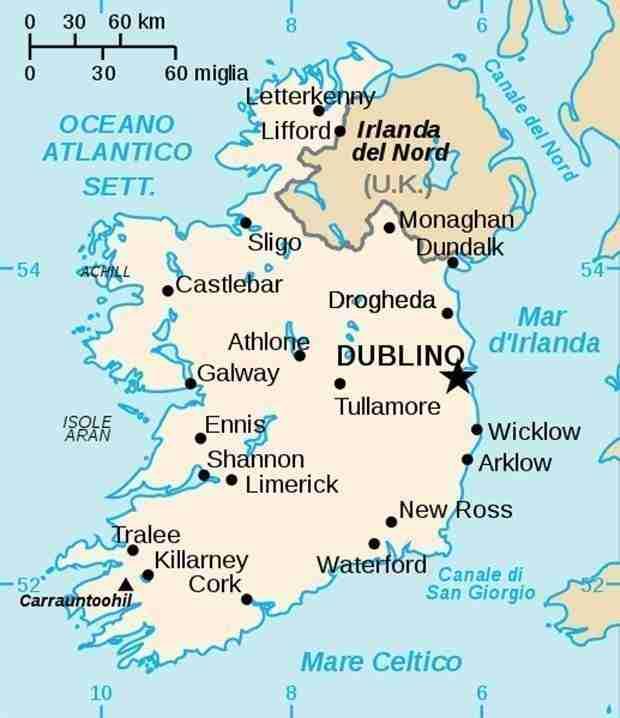 Mappa Irlanda Cartina Geografica Irlanda
