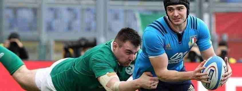 L'Italia del rugby contro l'Irlanda