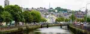 Una vista della città di Cork