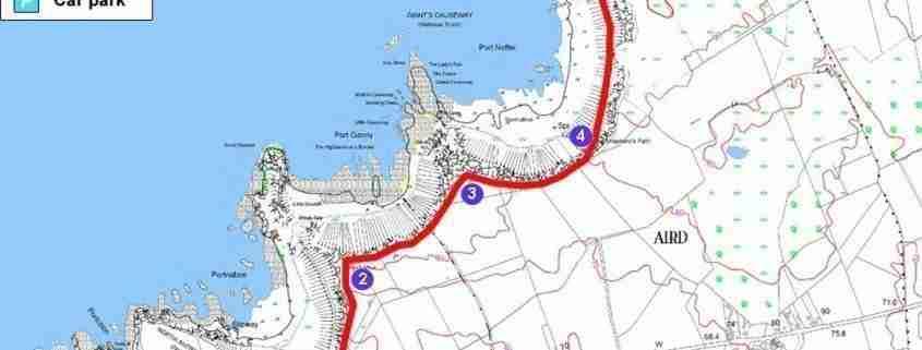 Giants Causeway: la mappa del percorso Red Trail