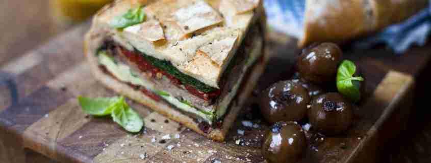 Sandwich di manzo e verdure