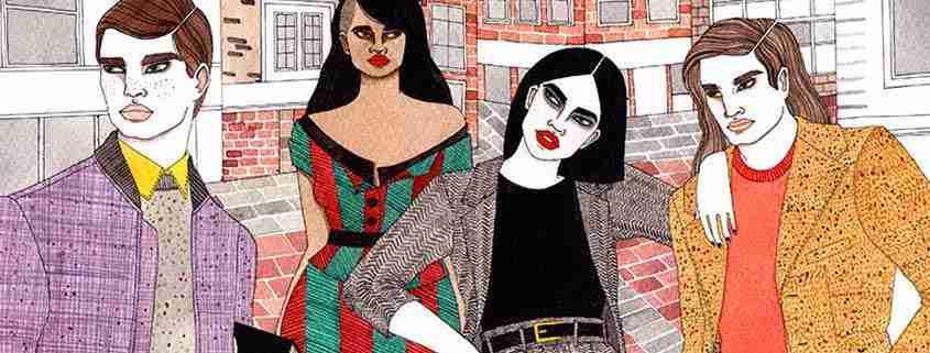 Illustrazione dei tweed del Donegal
