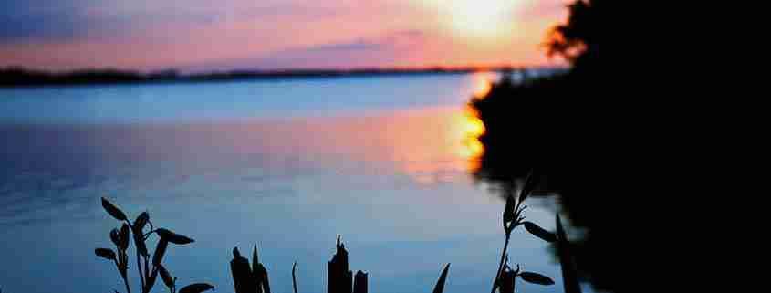 Lough Neagh al tramonto