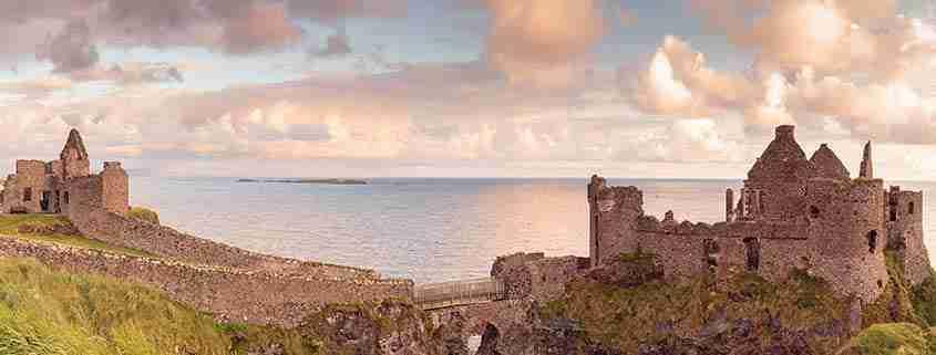 Una visuale del Dunluce Castle