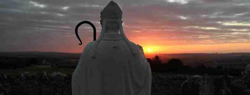 La statua di San Patrizio a Slane