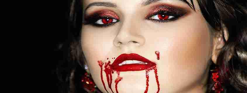 Trucco Halloween ragazza vampiro