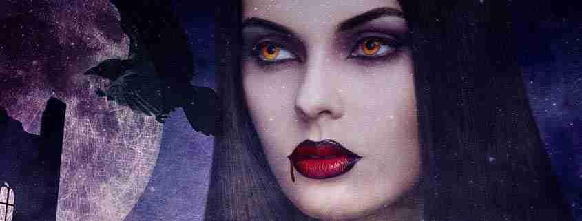 Trucco da vampira, make up ragazza vampira