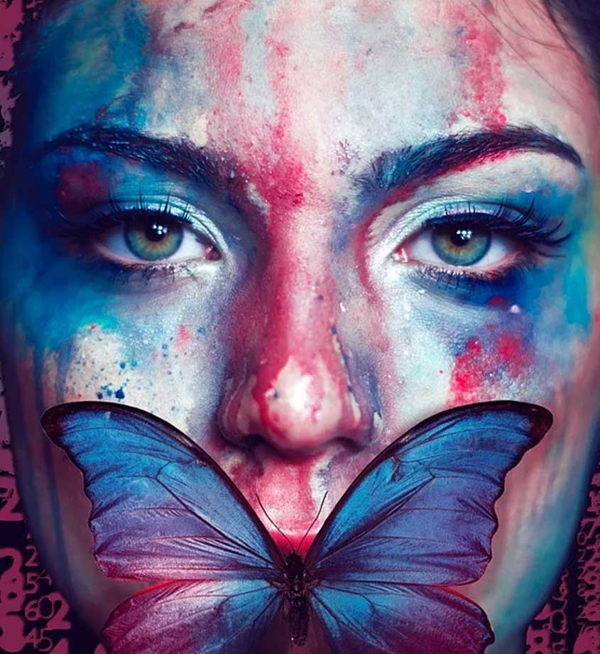 Farfalla morta