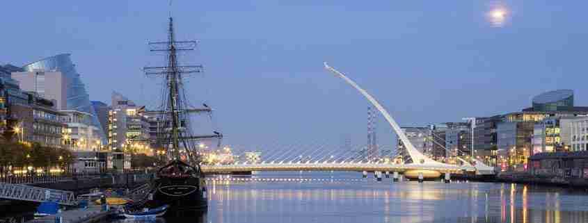 Il ponte Samuel Beckett bridge