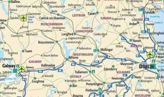 Cartina Turistica Irlanda.Cartina Irlandaonline Com