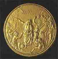 moneta Papa Clemente UT POPULUS BIBAT