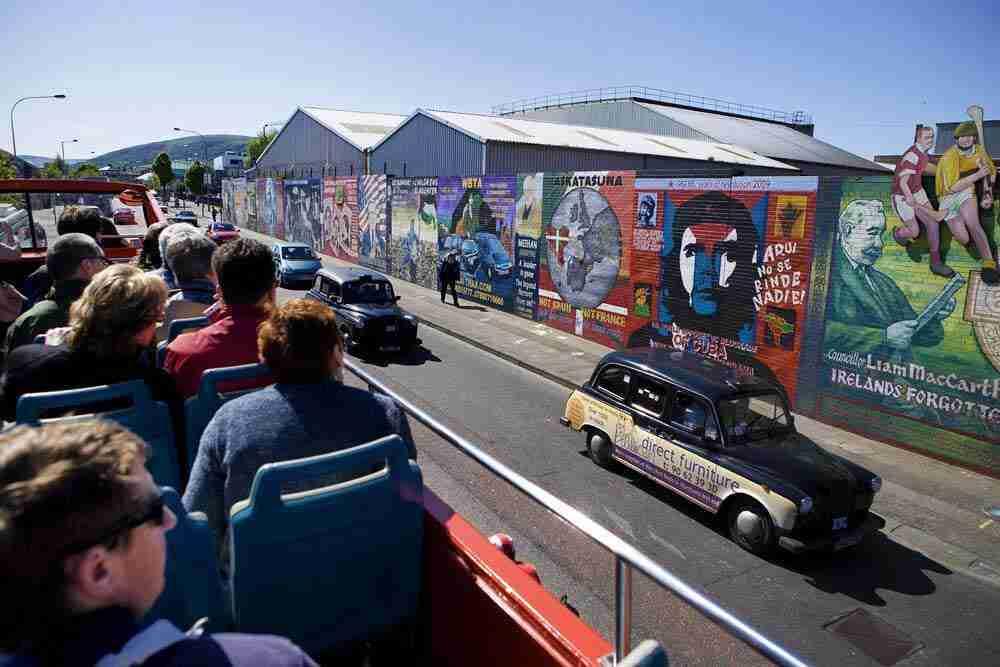 The Belfast peace wall murals in Northern Ireland