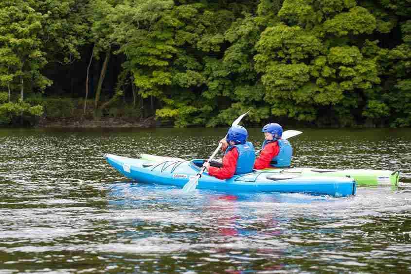 In canoa sul River Moy, Ballina