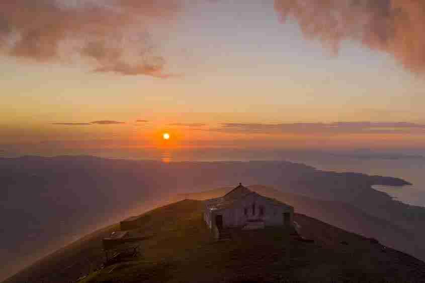 La cima del Croagh Patrick