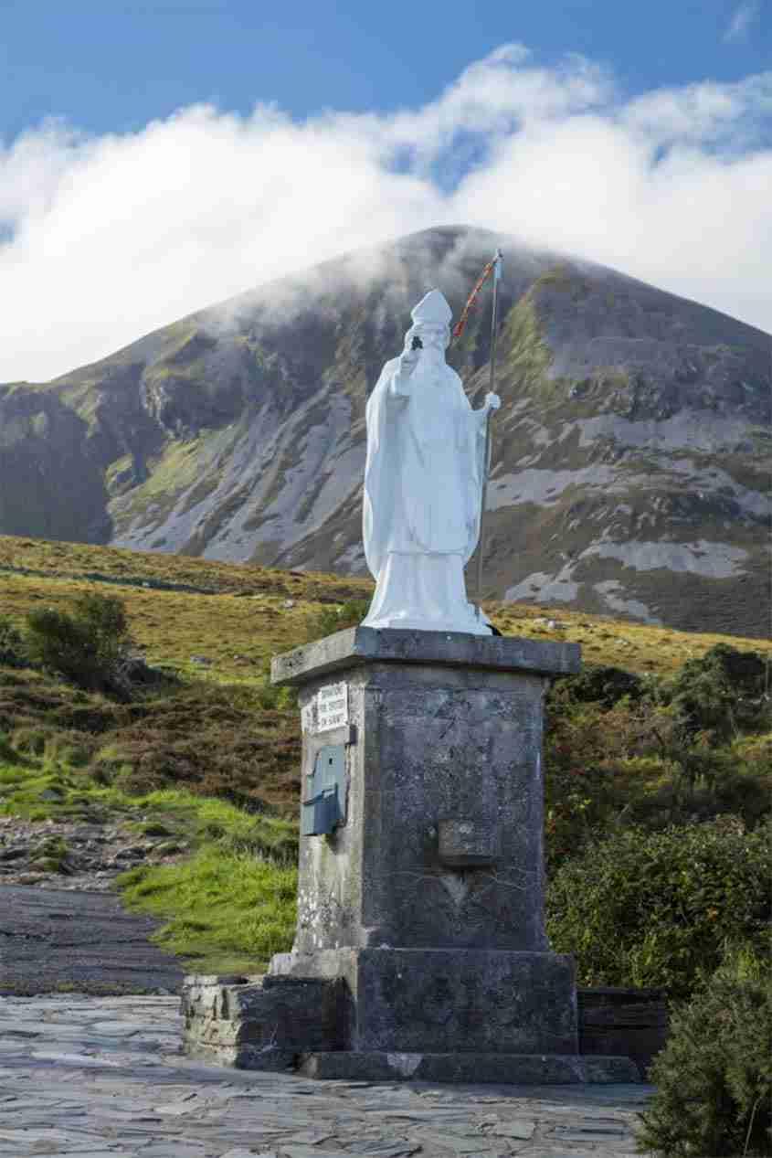 Statua di San Patrizio sul Croagh Patrick