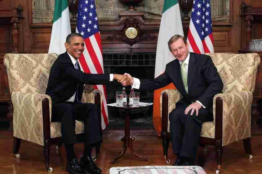 L'incontro tra i Presidenti Usa e Ireland